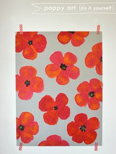 6 Kids Crafts All About the Color RED: DIY Painted Poppy Art