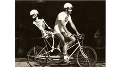 Longest Tandem Bicycle Ride With Full-Sized Artificial Skeleton In Back Seat