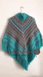 Ateliê Amiguartes: PONCHO SEDA!! ESTILO BOHO CHIC! Poncho Shawl, Boho Chic, Loom Knitting, Plaid Scarf, Crochet Projects, Knit Crochet, Diy And Crafts, Crochet Patterns, Blanket
