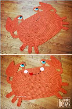 Crochet Mat, Crochet Carpet, Crochet Rug Patterns, Crochet Home, Cute Crochet, Crochet Designs, Knitting Patterns, Blanket Patterns, Crochet Toddler