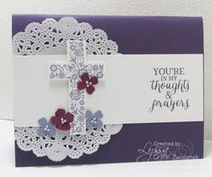 Classic Cross sympathy card design