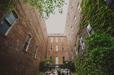 Downtown Nashville Tennessee Wedding  Destination wedding / courtyard ceremony venue  Cellar One