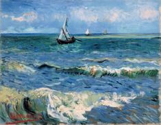Did you know that there are grains of sand all over Van Gogh's painting Seascape near Les-Saintes-Maries-de-la-Mer? It gives insight in how Van Gogh applied paint layers. Find out more in our exhibition 'Van Gogh at work':  www.vangoghmuseum.com/vangoghatwork