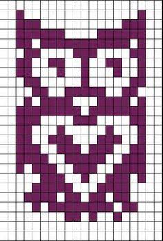 Owl Knitting Pattern, Fair Isle Knitting Patterns, Mittens Pattern, Crochet Stitches Patterns, Knitting Charts, Crochet Chart, Filet Crochet, Baby Knitting, Cross Stitch Patterns