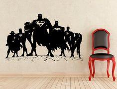 Supereroe adesivi Superman Batman Flash parete vinile adesivi casa affreschi degli interni arte decorazione (92z)