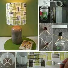 Ohoh deco - DIY and sewing for your house Creative Lamps, Diy Paper, Diy Painting, Glass Bottles, Table Lamp, Make It Yourself, Cool Stuff, Simple, Projects