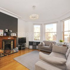 This beautiful and spacious three double bedroom mansion property is located in the heart of West Hampstead. It features high ceilings wood flooring and underfloor heating. #London #LondonProperty #property #ForSale #NW6 #home #property #NorthWestLondon #NWLondon #realestate #design #LondonHome #style #house #fireplace #WestHampstead
