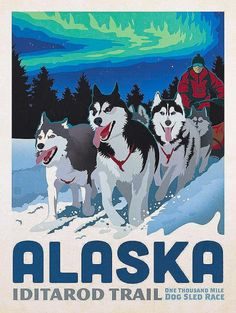 Alaska #Vintagetravelposters