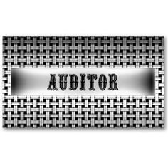 Auditor Metal Look Business Card