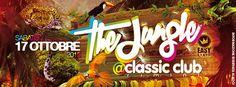 Il Classic Rimini ti aspetta sabato 17 ottobre 2015 per un viaggio nella giungla tra musica, scenografia spettacolari e atmosfera animalesca. Preparatevi per Jungle!