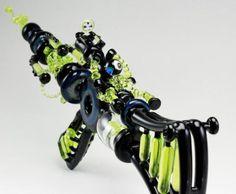 Amazing Glass Bongs | Neon Green Ray Gun Rifle Bong