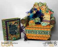 Mysterious Chair Mini Album, Midnight Mascarade, By Magda Cortez, Product by Graphic 45, Photo 02 of 13