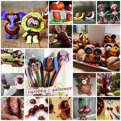 Inspiration, products made of chestnuts for kids http://veu.sk/index.php/aktuality/1791-inspiracia-vyrobky-z-gastanov.html #inspiration #producs #made #chestnuts #kids #diy