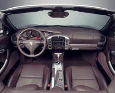 Interior of 2004 Boxster S 550 Anniversary Edition with console delete option and Tiptronic.