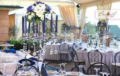 Butterfly story: свадьба в палитре «Индиго» от студии Bouquet