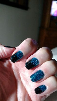 Carolina Panther Nails