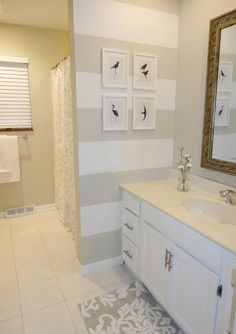 Budget bathroom renovation for under $200! Tons of ideas for how to update old bathrooms.