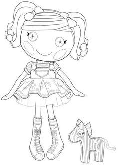 Digital Stamp LALALOOPSY COLORING On Pinterest