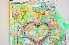 Shimmerz Paints: ♫ Shimmerz Mixed Media Art Journal Page