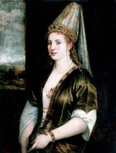 Hürrem Sultan, also known as Roxelana. Portrait by Titian titled ''La Sultana Rossa'', c. Portrait Photos, Portraits, Italian Renaissance, Renaissance Art, Empire Ottoman, Ottoman Turks, Italian Outfits, Italian Painters, Madonna And Child