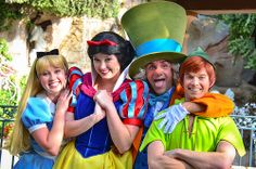 Alice, Snow White, The Mad Hatter & Peter Pan Face Characters