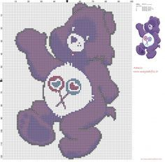 Share Bear (Care Bears) cross stitch pattern free (click to view)
