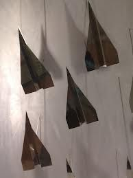 Hugo Boss Metallic Paper Airplane Display