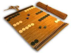 leather backgammon roll.. pretty much genius!