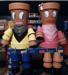 Flower Pot People I Made For My Mom for Christmas 2013.