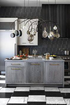 Upcycled bricks from Fireclay Tile get a new life as a glazed backsplash in our 10th annual House Beautiful Kitchen of the Year. San Francisco designer Jon de la Cruz went with the dark hue as an homage to one of cooking's central ingredients: black pepper.