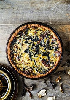 Syksyn paras sienipiiras - Reseptit - Helsingin Sanomat Soul Food, Paella, Fall Recipes, Quiche, Cooking Recipes, Baking, Breakfast, Ethnic Recipes, Cocktail