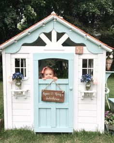 Wooden Playhouse Makeover