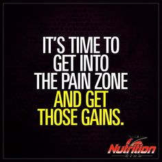 It's time to get into the pain zone and get those #gains! #FlexFriday #Motivation