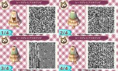 Animal Crossing New Leaf QR Codes Cardigan Sweater with Pink Skirt = CUTE<3