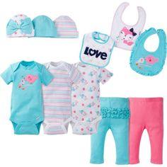 Gerber Baby Girls 11 Piece Layette Set Size 3-9 Months Adorable Little Bear