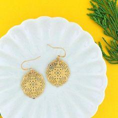 Online Shopping For LAVISHY Unique And Beautiful Filigree Earrings – LAVISHY Boutique Filigree Earrings, Gold Plated Earrings, Pendant Earrings, Flower Earrings, Silver Earrings, Crochet Earrings, Drop Earrings, Fashion Accessories, Fashion Jewelry