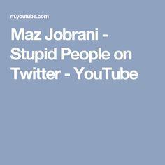 Maz Jobrani - Stupid People on Twitter - YouTube Maz Jobrani, Stupid Stuff, Stupid People, Social Media, Tv, Twitter, Youtube, Television Set, Social Networks