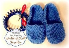 Loom Knit Slippers by Madine