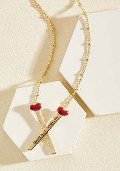 Strike Up a Romance Necklace, #ModCloth