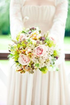 Read more spring bouquet http://www.itakeyou.co.uk/wedding/spring-wedding-bouquets/  Pastel bridal bouquet,Spring wedding bouquets