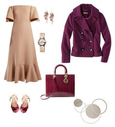 """""""Yesterday"""" by lle00000 ❤ liked on Polyvore featuring Valentino, Miu Miu, Christian Dior, Gucci and Merona"""
