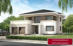 House design Andromeda N m² - Domowe Klimaty Two Story House Design, Hip Roof, House Entrance, Home Fashion, Ground Floor, Design Case, My Dream Home, Bungalow, My House