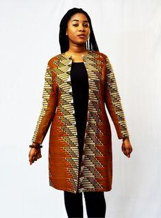 Short African Dresses, Latest African Fashion Dresses, African Print Dresses, African Print Fashion, Africa Fashion, Wax Jackets, African Attire, Kimono Fashion, Blazers