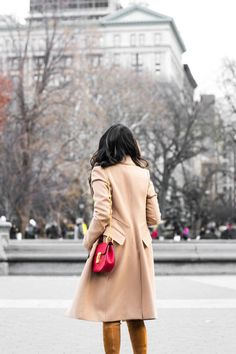 All Beige :: Camel coat & Red Chloe Drew :: Outfit ::  Top :: Old beige coat , BP. sweater Bottom :: Helmut Lang Bag :: Chloe Shoes :: Stuart Weitzman Accessories :: Karen Walker sunglasses Published: December 12, 2016