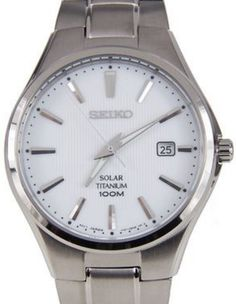 Seiko Mens Solar Titanium Watch - In Stock, Free Next Day Delivery, Our Price: Buy Online Now Seiko Solar, Titanium Watches, Seiko Men, Seiko Watches, Omega Watch, 100m, Stuff To Buy, Accessories, Delivery