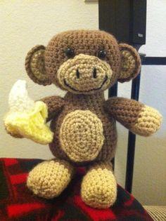 Stuffed Crochet Monkey - Mr. Monkey. $20.00, via Etsy. Way cute!!! NEED TO LEARN HOW TO CROCHET!!!