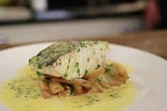 Salsify isn't used that often at home but it is a really versatile vegetable. Here it is combined with beautiful steamed cod and a classic beurre blanc. James Martin, Seafood Dinner, Fish And Seafood, Fish Recipes, Seafood Recipes, Crispy Smashed Potatoes, Chicken Corn Chowder, Turkey Glaze, Stuffed Jalapeno Peppers