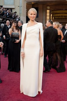 Gwyneth Paltrow Red Carpet Dresses | looks of the red carpet. Gwyneth Paltrow in a cream white dress ...