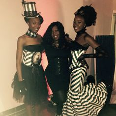 Me and my ladies!! We showed up and SHOWED OUT tonight! Thank you Markera and Kayla for coming through in a pinch along with photographer Alberto Cabrera and makeup artist Tiffani Nicole! NaJo Steampunk Couture  #teamnajocouture