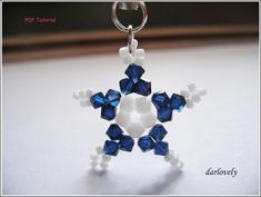 Blue White Star Charm FREE Tutorial